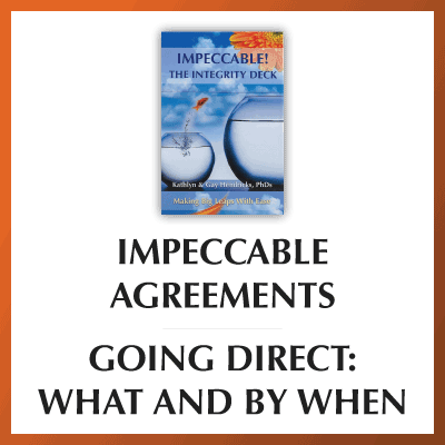 Impeccable Agreements—Going Direct: What and By When