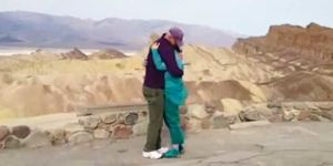 Katie and Gay Enjoy a 20-Second Hug