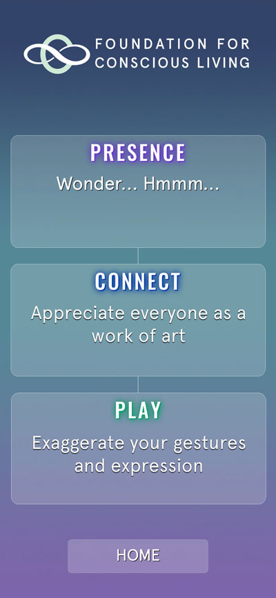 Presence-Connect-Play app prompts screen