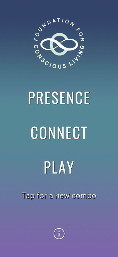 Presence-Connect-Play app home screen