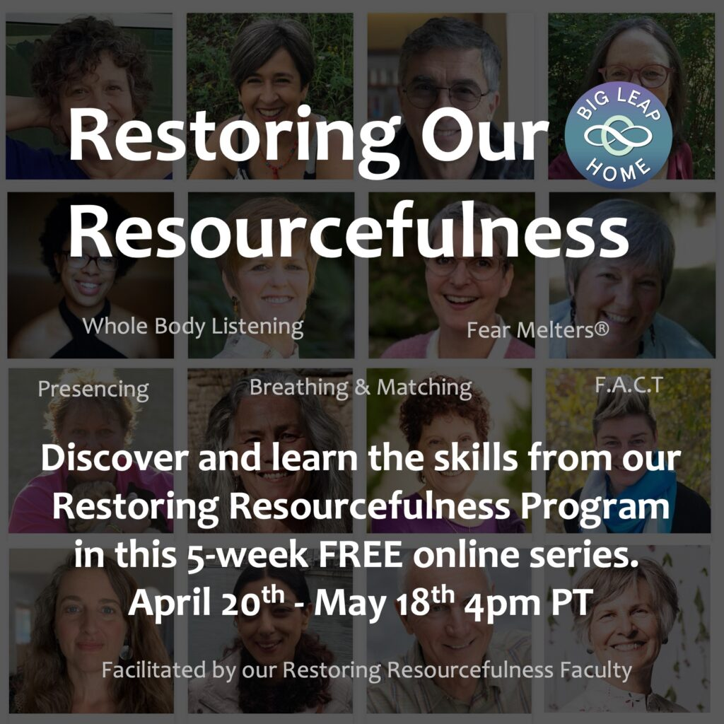 Restoring Our Resourcefulness